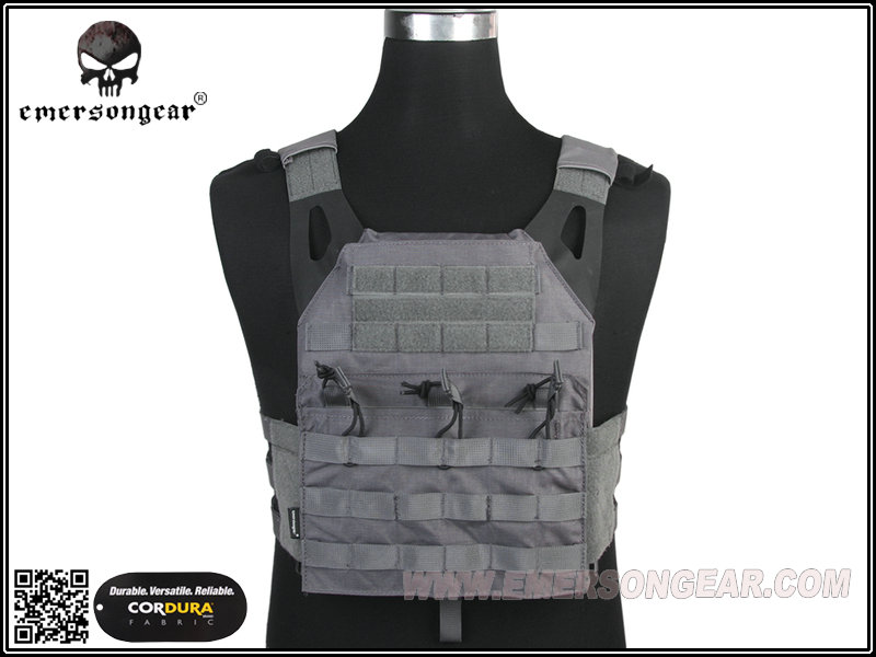 EMERSON JPC Tactical Plate Carrier Easy Style 500D - Wolf Grey
