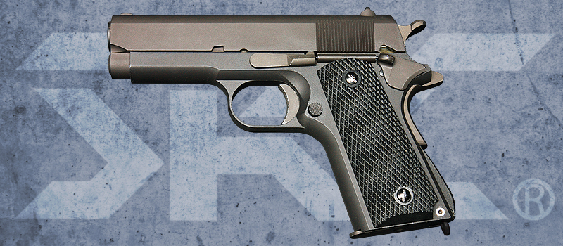 SRC 1911 Shorty Full Metal Gas Blowback Pistol