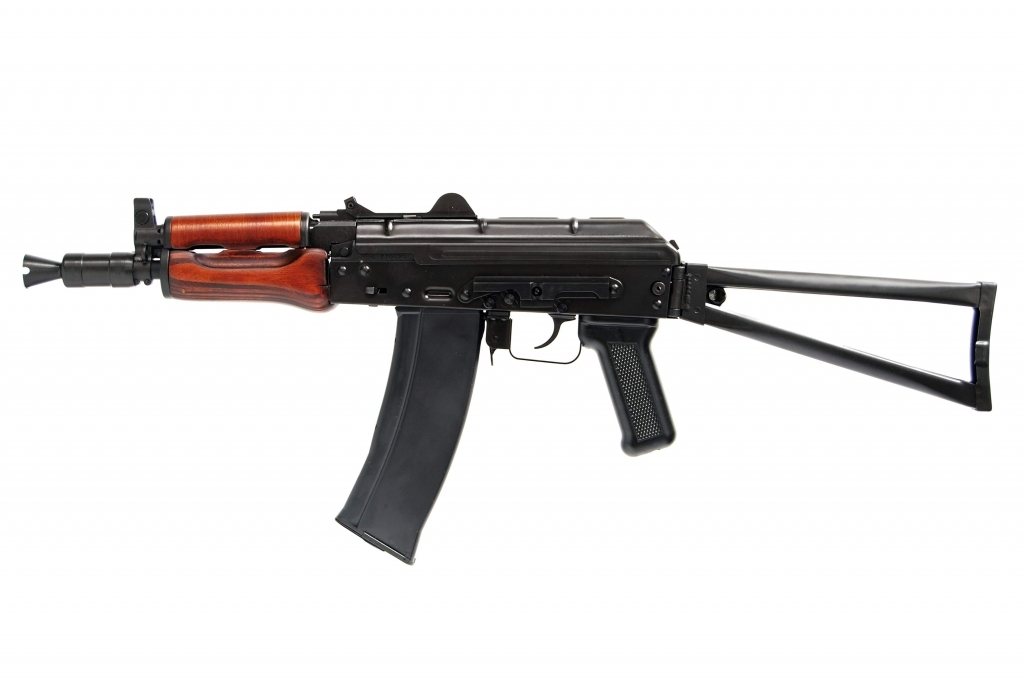 GHK AK74U GBB Rifle (GK74U) - Steel Body w/ Real Wood Furniture
