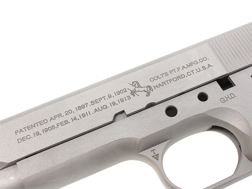 Guarder Aluminium Slide & Frame for MARUI Colt M1911 - Silver