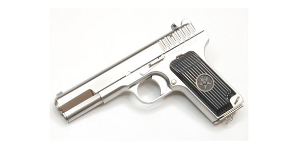 WE TT33 Full Metal Gas Blowback Pistol - Silver