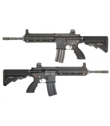 WE HK416 Full Metal AEG Rifle - Torque Motor Version, Black