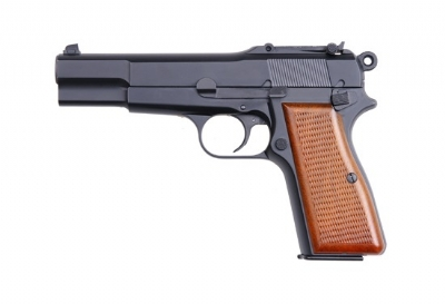 WE Browning Hi-Power (M1935) Full Metal GBB Pistol - Black