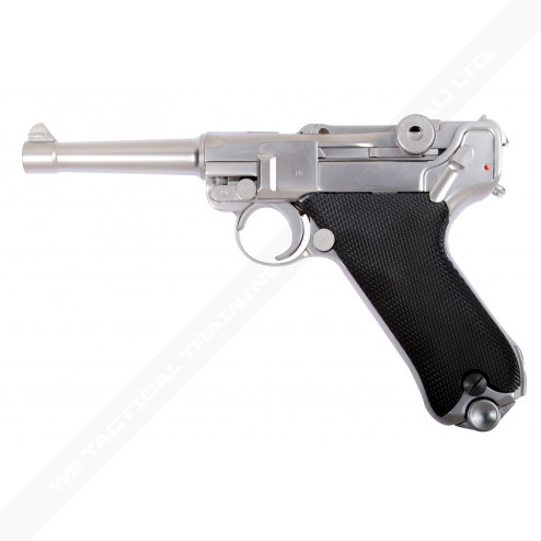 WE Luger P08 4inch SILVER (SHORT) Full Metal GBB Pistol