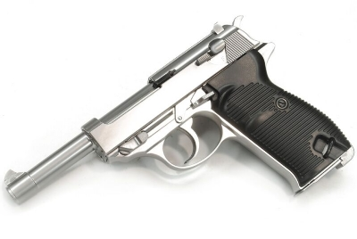 WE P38 L (P010L) Full Metal GBB Pistol - Silver