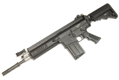 WE SCAR-H / MK17 SE GBB Rifle - w/ M4 Crane Stock Kit, Black