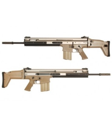WE SCAR H SSR / MK20 Full Metal Sniper Support Rifle AEG - Tan
