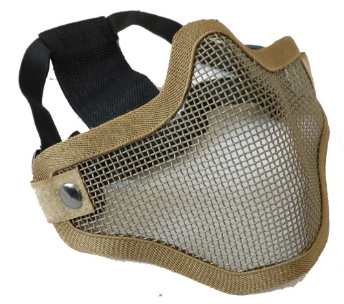 V1 Strike Steel Mesh Half Face Mask - Tan
